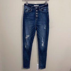 KanCan Kurvy Button Fly High Rise Skinny Jeans| 26